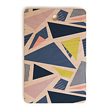 Deny Designs Mareike Boehmer Color Blocking Triangles 1 Rectangle Cutting Board