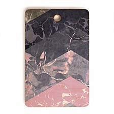 Chevron Marble Texture Rectangle Cutting Board