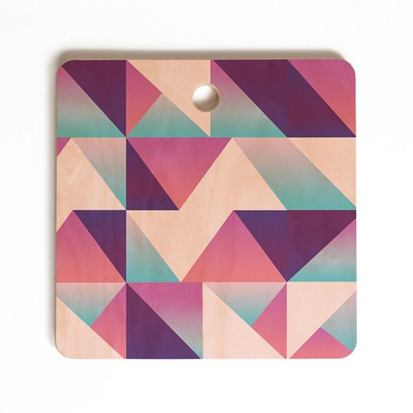 Deny Designs Geo Holo Square Cutting Board