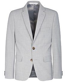 Lauren Ralph Lauren Big Boys Stretch Light Gray Suit Jacket