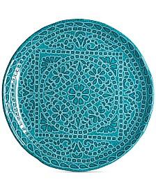 222 Fifth Capri Isle Mosaic Tile Melamine Salad Plate