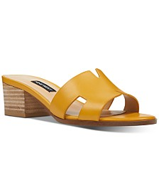 Nine West Aubrey Block-Heel Slide Sandals