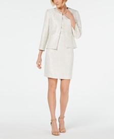Kasper Embellished Jacquard Jacket & Sheath Dress