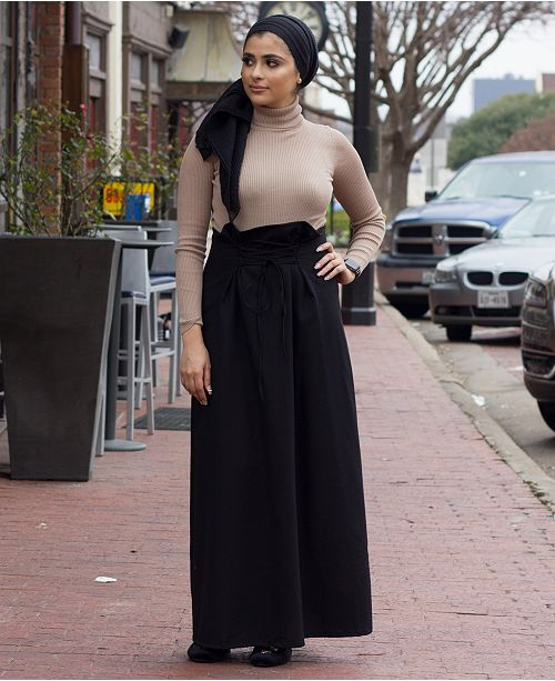 Verona Collection Lace-Up Maxi Skirt