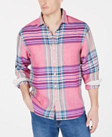 Tommy Bahama Men's Pecona Classic Fit Plaid Linen Shirt
