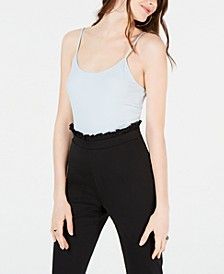 Juniors' Rib-Knit Spaghetti-Strap Bodysuit, Created for Macy's