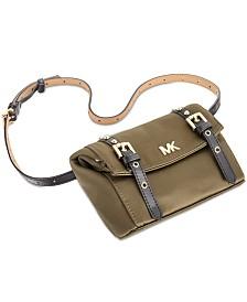 Michael Kors Fancy Grommet Nylon Belt Bag