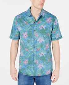 Tommy Bahama Men's Jungle Topia Classic Fit Floral Knit Camp Shirt