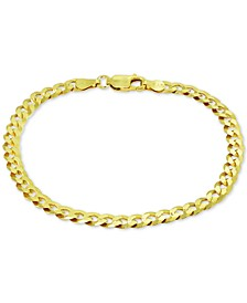Curb Link Chain Bracelet in 18k Gold-Plated Sterling Silver, Created for Macy's