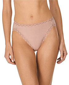 Natori Bliss French-Cut Lace-Trim Cotton Brief 152058