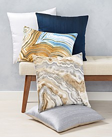 Dupioni and Marble Decorative Pillow Collection