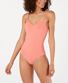Roxy Junior's Tie-Back One-Piece Swimsuit