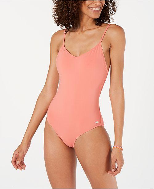 Roxy Junior's Tie-Back One-Piece Swimsuit