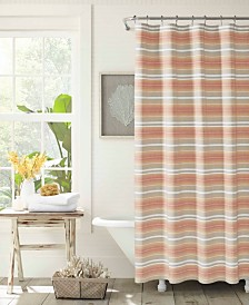 Tommy Bahama Sunrise Stripe Shower Curtain
