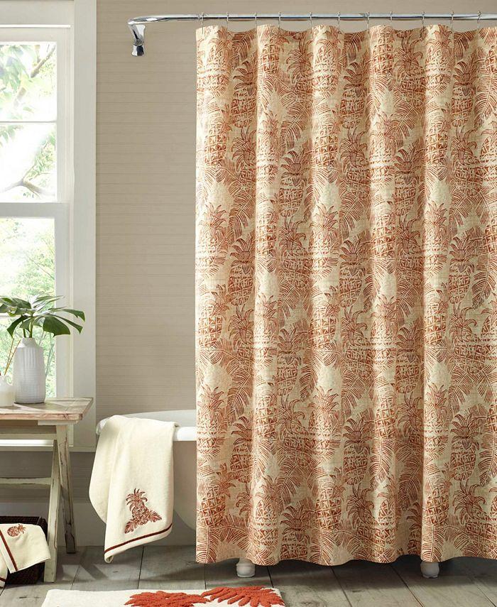 Tommy Bahama Home - Tommy Bahama Batik Pineapple Shower Curtain