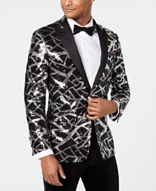 Tallia Men's Slim-Fit Sequin Dinner Jacket