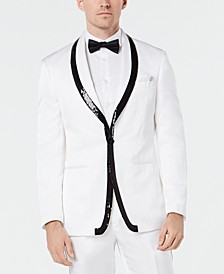 Men's Slim-Fit Sequin Dinner Jacket