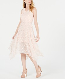 kensie Sleeveless Appliqué Midi Dress