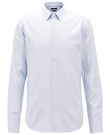 BOSS Men's Regular/Classic Fit Striped Cotton Shirt