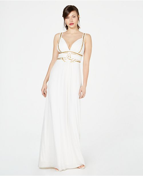 Marciano Studded Cutout Gown Created For Macy S Reviews Dresses Women Macy S