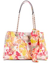 e0878ab03661 GUESS Shannon Floral Girlfriend Satchel