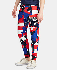 Polo Ralph Lauren Men's Camo Double-Knit Americana Joggers, Created for Macy's