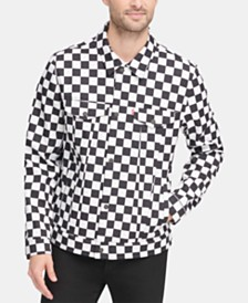 Levi's® Men's Water-Resistant Checker Soft-Shell Trucker Jacket