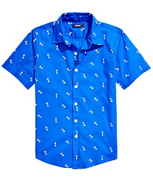 Univibe Big Boys Smarties Regular-Fit Sunglass-Print Shirt