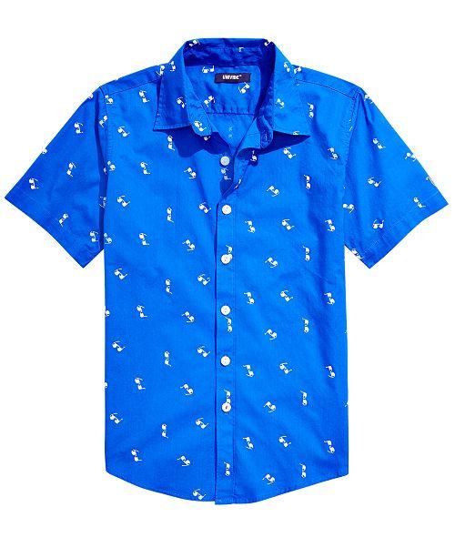 Univibe Big Boys Smarties Regular-Fit Sunglass-Print Shirt