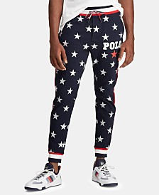 Polo Ralph Lauren Men's Star-Print Interlock Americana Pants, Created for Macy's