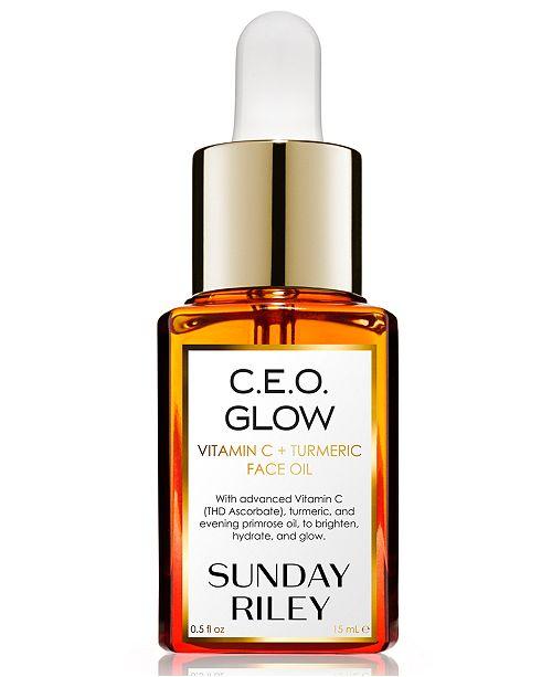 Sunday Riley C.E.O. Glow Vitamin C + Turmeric Face Oil, 0.5-oz.