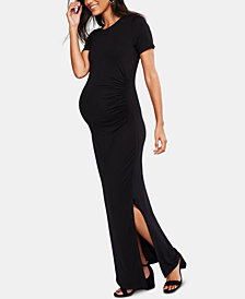 A Pea In The Pod Maternity Ruched Maxi Dress