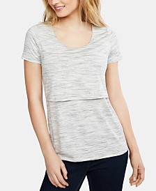 Motherhood Maternity Tiered Nursing Top