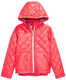 Michael Kors Big Girls Hooded Quilted Jacket