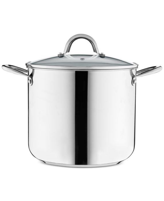 Tools of the Trade 12-Qt. Stainless Steel Stockpot with Lid , Silver