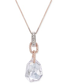 "Pink Amethyst (5-3/4 ct. t.w.) & Diamond Accent 18"" Pendant Necklace in 14k Rose Gold"