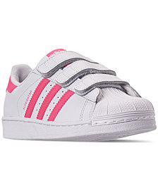 adidas Little Girls' Originals Superstar Casual Sneakers from Finish Line