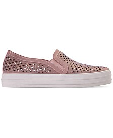 Skechers Women's Double Up - Diamond Girl Slip-On Casual Sneakers from Finish Line