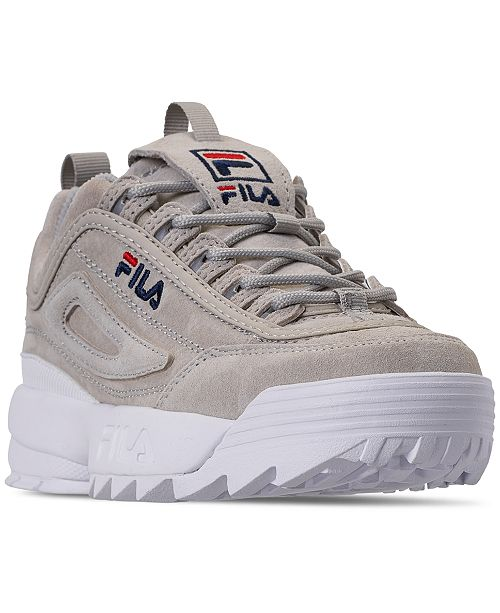 ac4a75b90eb9 ... Fila Women s Disruptor II Premium Suede Casual Athletic Sneakers from  Finish ...