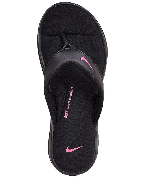 sports shoes 44186 550ef ... Nike Women s Ultra Comfort 3 Thong Flip Flop Sandals from Finish ...