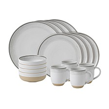 Crafted by Royal Doulton Brushed Glaze 16 Pc Dinnerware Set
