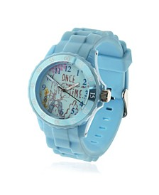 Children's Peter Rabbit Time Teacher Light Blue Silicone Strap Watch