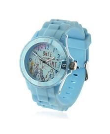 Beatrix Potter Children's Peter Rabbit Time Teacher Light Blue Silicone Strap Watch