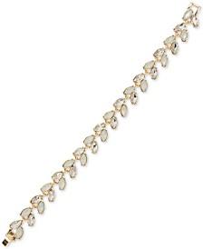 Anne Klein Gold-Tone Crystal Flex Bracelet