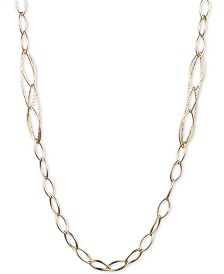 "Anne Klein Gold-Tone Linked 42"" Strand Necklace"