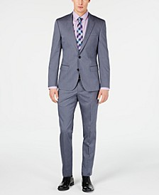 HUGO Hugo Boss Men's Slim-Fit Stretch Navy Vertical Stripe Suit Separates