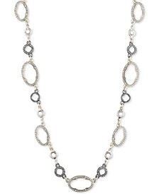"Two-Tone Pavé Collar Necklace, 16"" + 2-1/2"" extender"