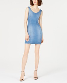 GUESS Sleeveless Jean Dress