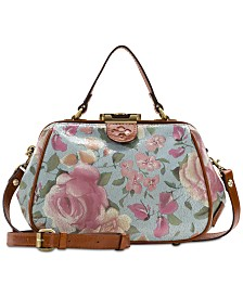Patricia Nash Gracchi Crackled Rose Garden Satchel