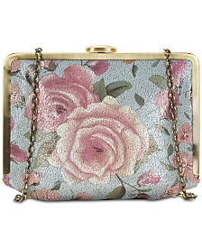 Patricia Nash Cariati Crackled Rose Garden Clutch